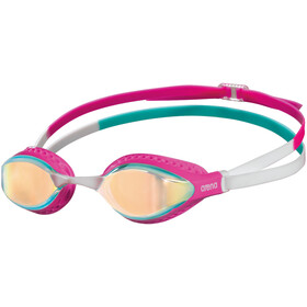 arena Airspeed Mirror Occhiali Da Nuoto, yellow copper/pink/multi